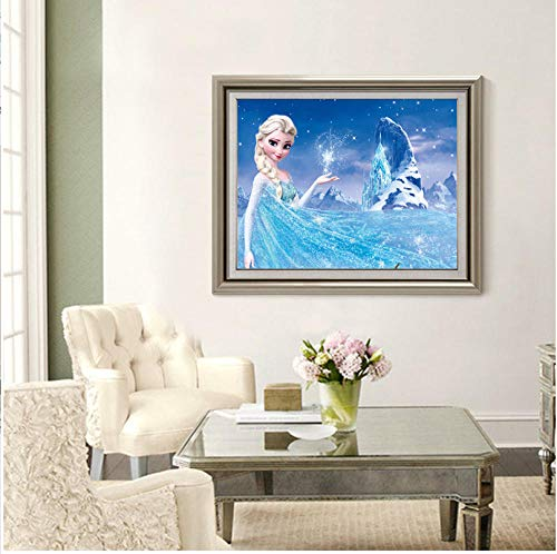 XLUIN 5D-diamantschilderset, rond, ijs, romantiek, om zelf te maken, schilderen, kunst, woonkamer, wanddecoratie