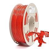 Reprapper Filamento PLA 1.75 1kg para Impresión 3D, PLA 1.75mm (± 0.03) para Impresora 3D, Rojo