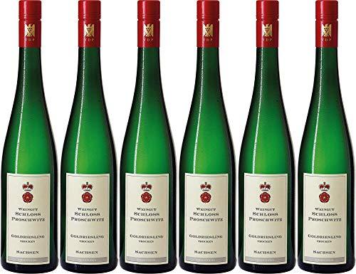 6x Schloss Proschwitz Goldriesling Gutswein 2019 - Weingut Schloss Proschwitz, Sachsen - Weißwein
