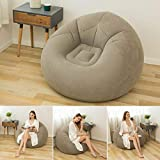Bean Bag Chair - Sofá Inflable Flocado Plegable - Sala de Estar Al Aire Libre Bean Bag Silla Tumbona Sofá Perezoso Inflable Ultra Suave Sofá