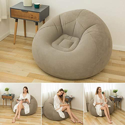 Bean Bag Chair Aufblasbares Sofa, beflockt, faltbar, für Wohnzimmer, Outdoor, Bean Bag, Stuhl, Faultiersofa, aufblasbar, ultraweiches Sofa