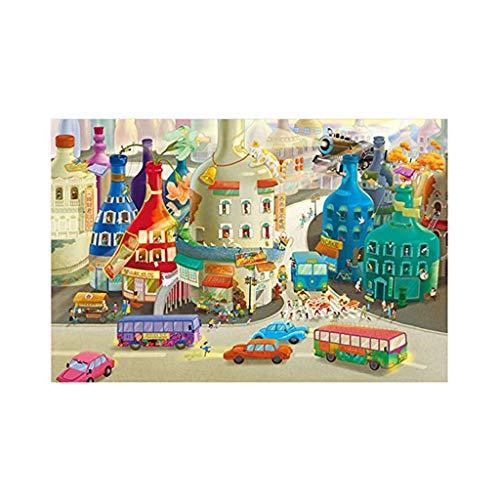 UOWEG Puzzle 1000 Teile - 2D Jigsaw Puzzle für Erwachsene - Buntes Puzzle 1000 Teile Erwachsene, 1000 Teile Puzzle, Puzzle Erwachsene 1000 Teile, Puzzel,1000 Puzzle, 50 * 75Cm
