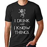 Game of Thrones I drink and I know things Black T...