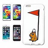 Reifen-Markt Funda para iPhone 5 / 5S, diseño de oso en el campo de golf