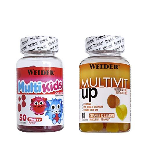 Weider Pack Gummies Multivit + Multikids 640 ml