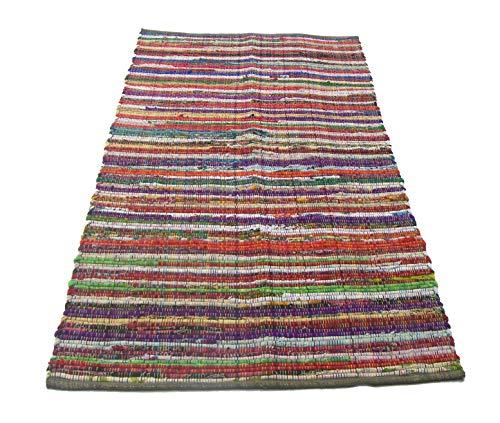 Chardin hogar Reciclado algodón Colorido Chindi área Alfombra