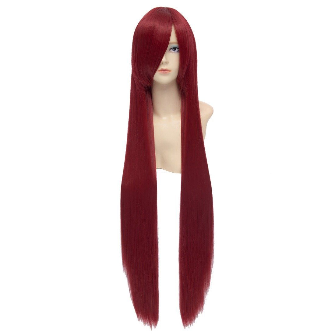 Paixpays Anime Black Butler Grell Sutcliff Cosplay red full hair wig costume