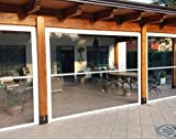 Tenda Veranda - ermetica - chiusura totale - con guide - antivento - antipioggia… (L.150 x H.200)