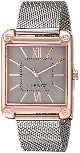 Nine West Women's Sunray Dial Mesh Bracelet Watch
