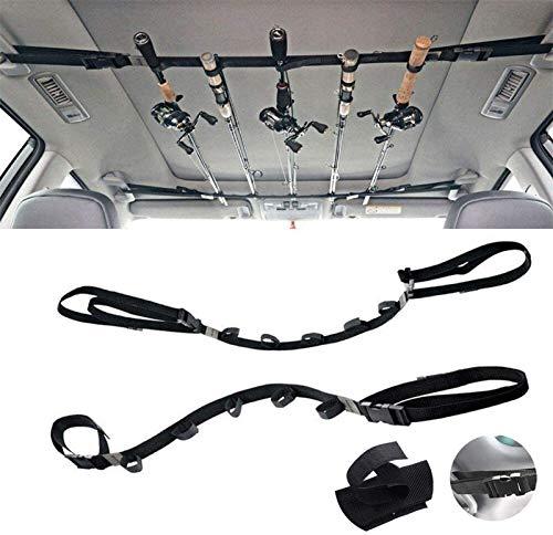 Gudoread Car Fishing Rod Holder - Adjustable Fishing Rod Rack for Truck,SUV and Van(2 Strap)