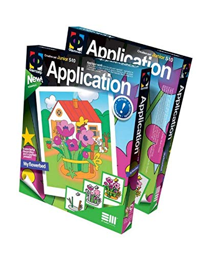 Fantazer ELF257007 Applikations-Set My Flowerbed, Mehrfarbig, One Size