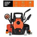 WSFF Voiture en Mousse Haute Pression Portable Laveuse, Ménage 1400W Pompe Laveur de Voiture, Pression de 80bar-110Bar Laveur de Voiture