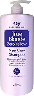 Hi Lift True Blonde Zero Yellow Pure Silver Shampoo 1000 ml, 1000 ml, 1 l
