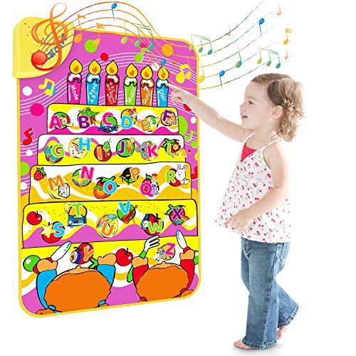 Magicfun Alphabet Spielzeug Lernen, Musikmatte Lernspielzeug für englische Buchstaben und Wörter, ABC Lern und Hörbuch, Interaktionslernen Touch Play Spiel für Baby/ Kinder/ Kleinkinder