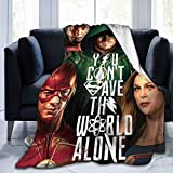 Blanket with Justice League The Flash Batman Pattern Throw for The Bed Quilt Ultra-Soft Micro Fleece Lightweight Blankets for Kids Adults Comfortable King Size Super Soft Warm Blanket