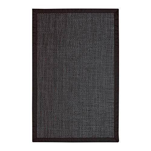 STORESDECO Alfombra vinílica Deblon con Ribete – Alfombra de PVC Antideslizante y Resistente, Ideal para salón, Cocina, baño… (120cm x 180cm, Negro) ¡Más Medidas y Colores!