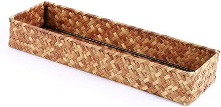 XinQing-Storage basket Pucao Hand-made Desktop Snacks Sundries Remote Control Finishing Storage Basket Tea Basket 34 * 11...
