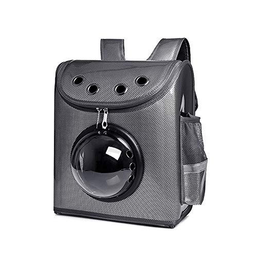 TTPF Mascota Space Capsule Mochila Transpirable portátil Múltiples respiraderos Transparentes para Gatitos Perros Pequeños Animales Viajes al Aire Libre Caminar