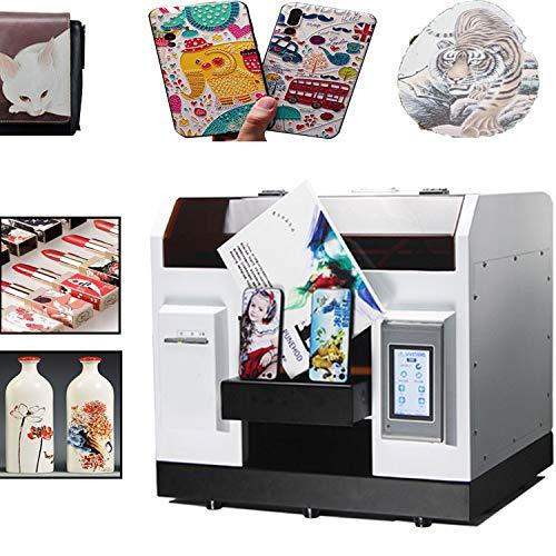 UV Printer, DIY Flatbed/Cilindrische LED Printer, Automatische Printer met Touch Screen voor Leer, ID-Kaart, Mobiele Telefoon Case, Glas, Metalen Oppervlakteafdruk (met Rotary Mould)