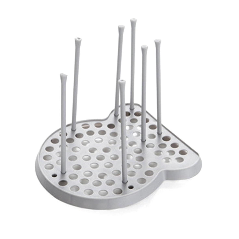 ストッキングハンサム言うBESTONZON 食器乾燥ラックカトラリートレイボウルカップドレンホルダーキッチンカウンタートップ収納キャビネットオーガナイザー(グレー)