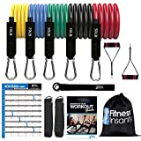 Resistance Bands Set - 5-Piece Exercise Bands - Portable Home Gym Accessories - Stackable Up to 150...