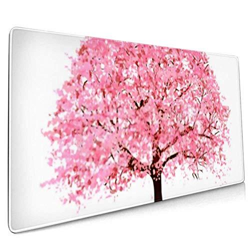 Long Mousepad (35,5 x 15,8 Zoll) Kirschblüten Spring Flower Icon Schreibtisch Pad Tastaturmatte, rutschfeste Basis, wasserdicht, für die Arbeit