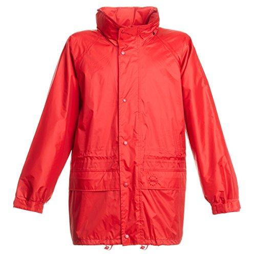 BMS Regenjacke Challenge of Rain, Rot, Größe XL