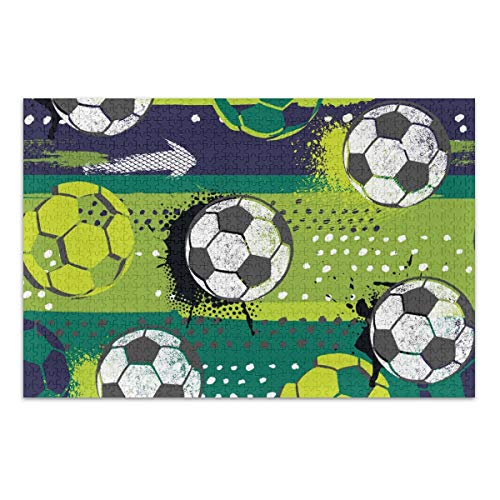 MCHIVER Adult Jigsaw Puzzle 500 Piece - Soccer Ball Funny Family Games Kids Educational Learning Toy for Boys Girls Home Decoration