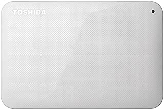 東芝 USB3.0接続 ポータブルハードディスク 1.0TB(ホワイト)CANVIO BASICS(HD-ACシリーズ) HD-AC10TW