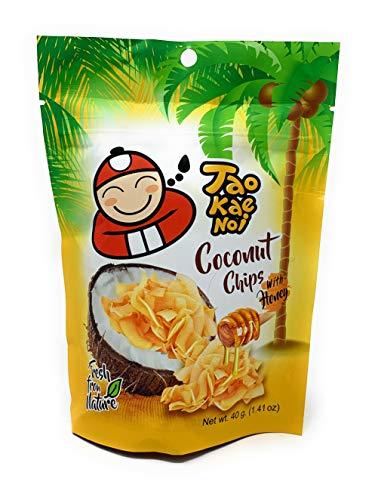 Taokaenoi Coconut Chips with Honey, 100 % natürliche Zutaten, 40 g