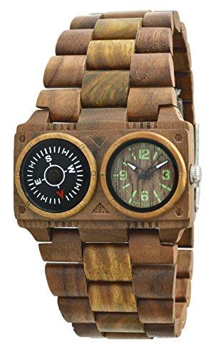 Orologio uomo in legno Green Time by Zzero Adventure ZW072A