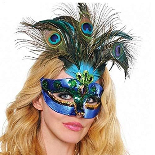 Byfri Neue Frauen-Elegantes Kostüm-reizvolle Abschlussball-Partei Weihnachten Maskerade Maske Accessoires Maske Pfau