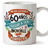 MUGFFINS Taza 60 Cumpleaños -'Me ha llevado 60 años llegar a ser increíble y casi perfecto - Regalos Desayuno Feliz Cumpleaños