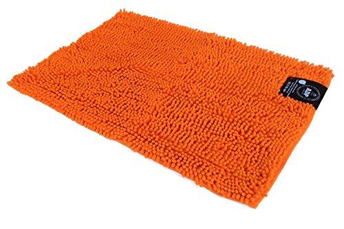 ADP Home - Alfombra shaggy microfibra (de 50x70cm), naranja