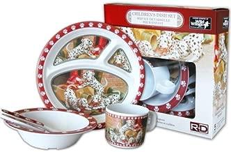 Wild أجنحة تي شيرت للأطفال 5-piece ملامين مجموعة أدوات المائدة تتميز dalmatians