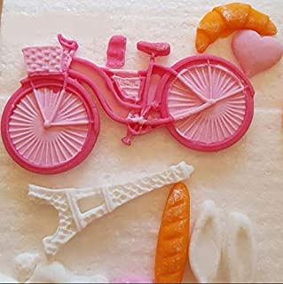 RETAIL SUPPLIES 1Pcs Bicycle Shaped Silicone Mold,Bike Sugarcraft Cake Decorating Tools,Fondant Mold
