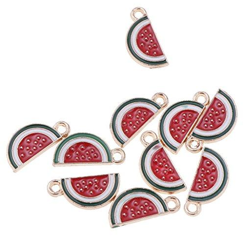 Colcolo 10pcs Forma de Fruta Encantadora Encantos Colgantes Resultados de La Joyería de Bricolaje - rojo,1, tal como se describe
