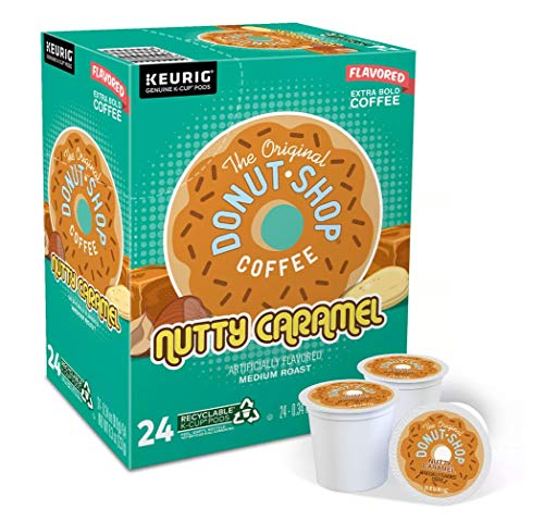 The Original Donut Shop Coffee 24 K Cups Count Pods Capsules (FLAVORS) Light/Medium/Bold Roast Flavored Premium Coffee For Keurig Machine (24 K-Cups Original Donut Shop Nutty Caramel)