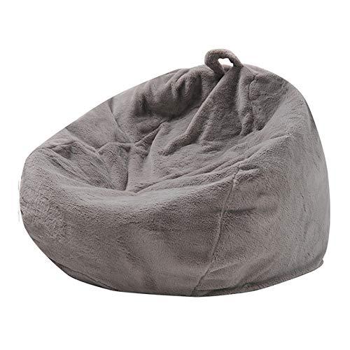 YFYTYG-PX Cubierta De La Bolsa De Frijoles, Funda De Silla De Puff Material De Piel De Conejo Artificial Cubierta De Sofá para Niños Y Adultos (Sin Relleno),Gris,100X120CM