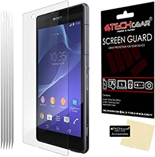 TECHGEAR [5-pack] skärmskydd för Xperia Z2 – Premium LCD-skärmskydd skydd skydd kompatibel med Sony Xperia Z2