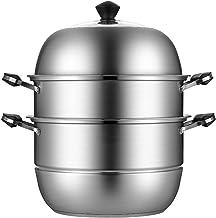 3-tier Stoomboot Pot, Roestvrijstalen Stoffen Met Anti-verbrandingshendel, Stoomboot Pot Set Voor Gestoomde Tamales, Aarda...
