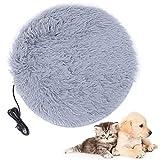BigBig Style Manta eléctrica para mascotas, perros, gatos, mascotas, alfombrilla de calentamiento con interfaz de carga USB, manta de forro polar suave