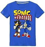 Silver Basic Camiseta Deportiva para Nios Inspirada en la Pelcula Sonic The Hedgehog con Estampados Grficos de Sonic Sonic Cosplay Sonic tee para Nios 100,Azul Sonic Shadow-3