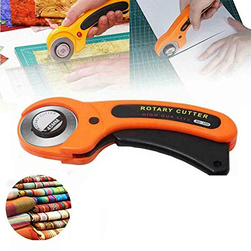 45mm Rotary Cutter Sewing Round Cutters Sewing with Scale Blades Rotary Cloth Guiding Cutting Machine with Safety Lock for Sewing Quilting Fabric Cutting Craft Tool