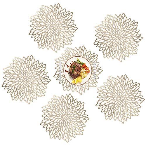 MaoXinTek PVC Tovagliette Set di 6 Decorazione per Tavolo da Pranzo da Tavola Lavabili Non-scivolose...