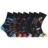 Calcetines para hombre Stay Fresh Retro Games tamaño 6-11 (paquete de 7) (6-11) (negro Multi)