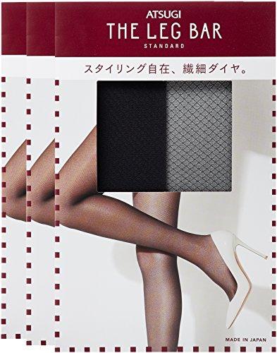 [アツギ] ATSUGI THE LEG BAR(アツギザレッグバー) スモールダイヤ柄 ストッキング FP50802 レディース ブラック 日本 L~LL (日本サイズ2L相当)