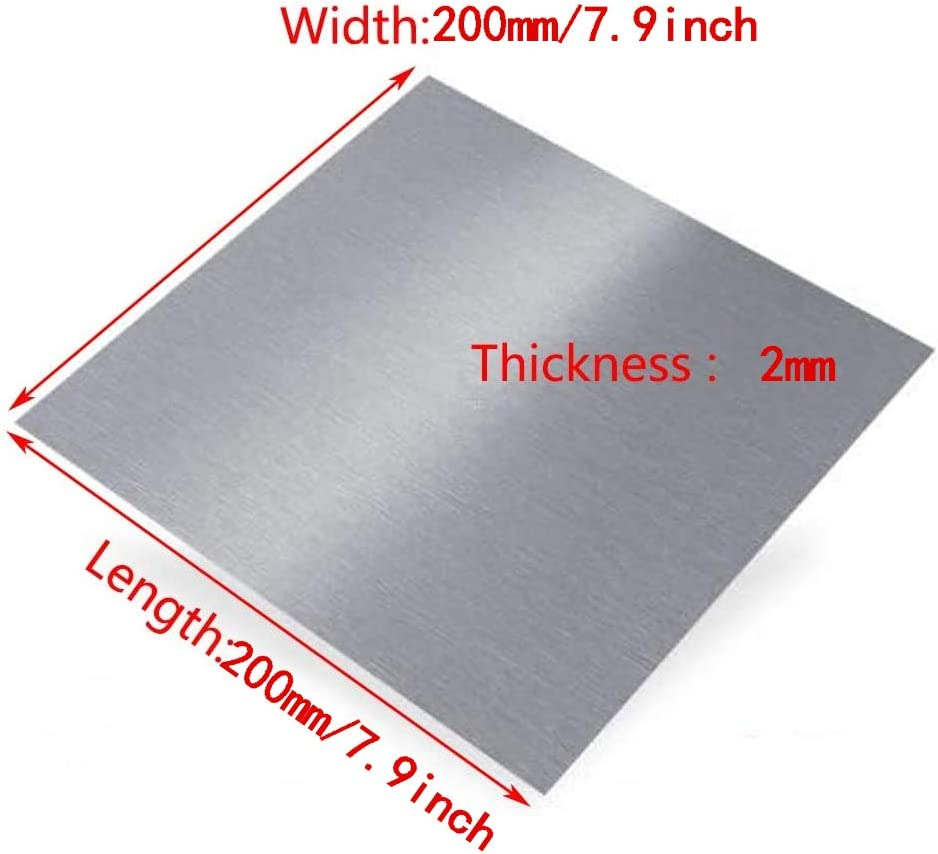 MHUI Aluminum Sheets,Aluminium Panel Plate,for Metal Craft,Thickness:1.5mm,20cm X 20cm ,1.5mm x 200mm x 200mm 7.9inch X 7.9inch
