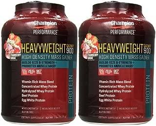 【2個セット】 Champion Nutrition チャンピオンニュートリション ヘビーウエイトゲイナー900 3.17kg [海外直送品] (ストロベリーサンデー)