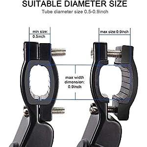 ZFYQ Pata de Cabra para Bicicleta, Aluminio Soporte Ajustable del Retroceso de Bici Caballete Bicicleta con Llave Hexagonal y Ampliable De Bicicleta